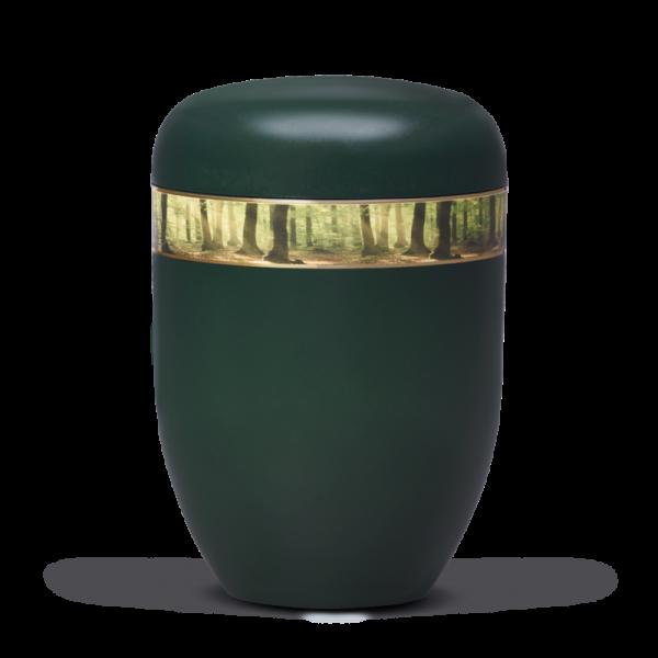 """Urne Moosgrün, Dekorband """"Waldlichtung"""" (25750 o.T.)"""