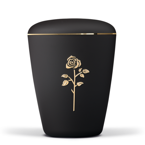 Urne Anthrazit Velour Rose Stripdome , Goldband