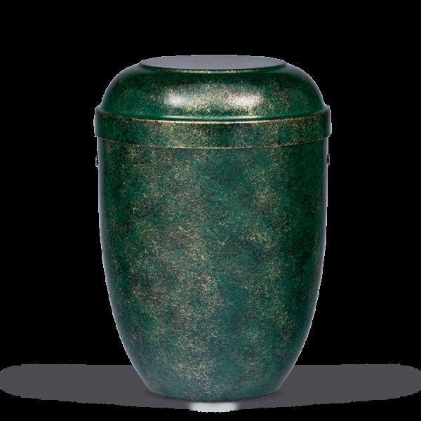 Urne Grün-Schwarz-Bronze patiniert