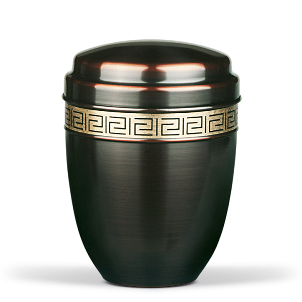 Urne Dunkel galvanisch, Mäanderdekorband