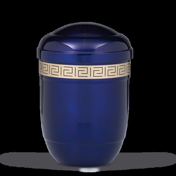 Urne Kobalt-Blau, Mäanderdekorband