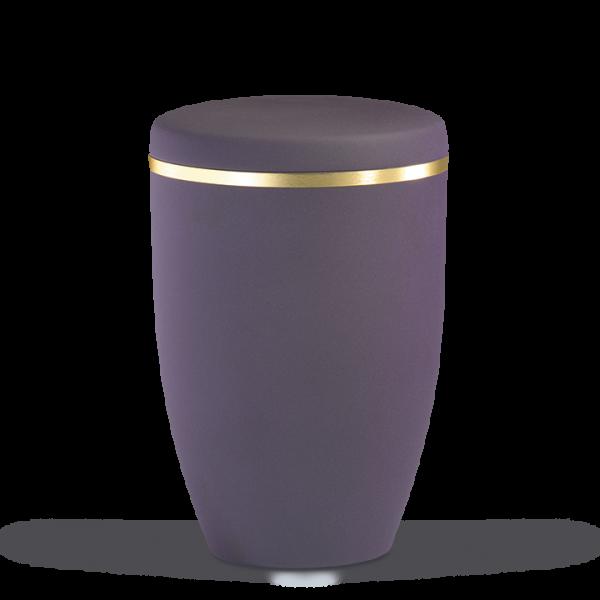 Urne Braun-Violett, Goldband gebürstet