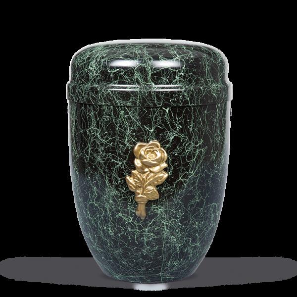 Urne Modern-Grün patina, Rosenblüte
