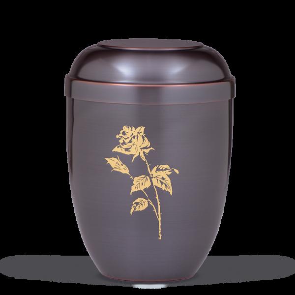 Urne Dunkel galvanisch, Rose